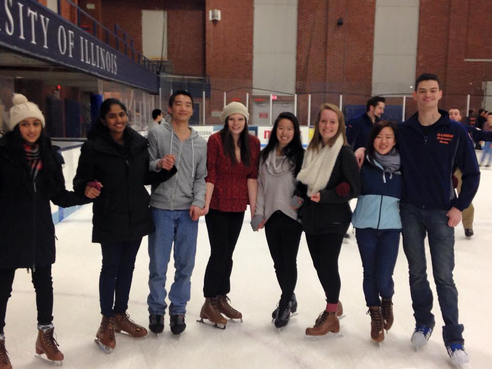 Actuarial Science Club goes ice skating