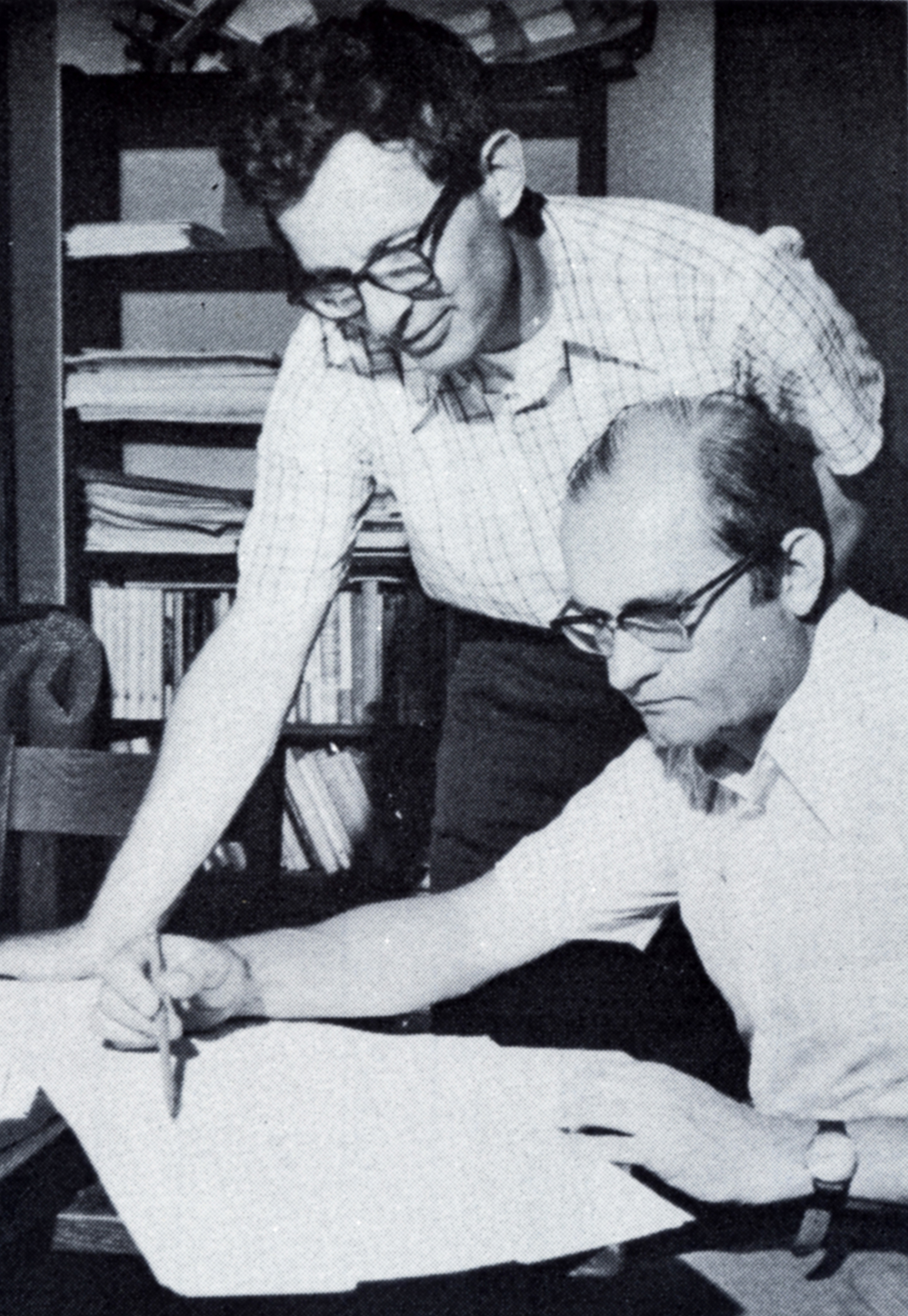 Kenneth Appel and Wolfgang Haken (seated) solve the Four Color Problem which was remarkable both for its mathematical and historical significance as the solution to a long-standing problem with an extremely simple formulation, and also for the method of proof which made extensive use of computing technology--making it the first mathematical proof to rely in an essential fashion on the use of computers.