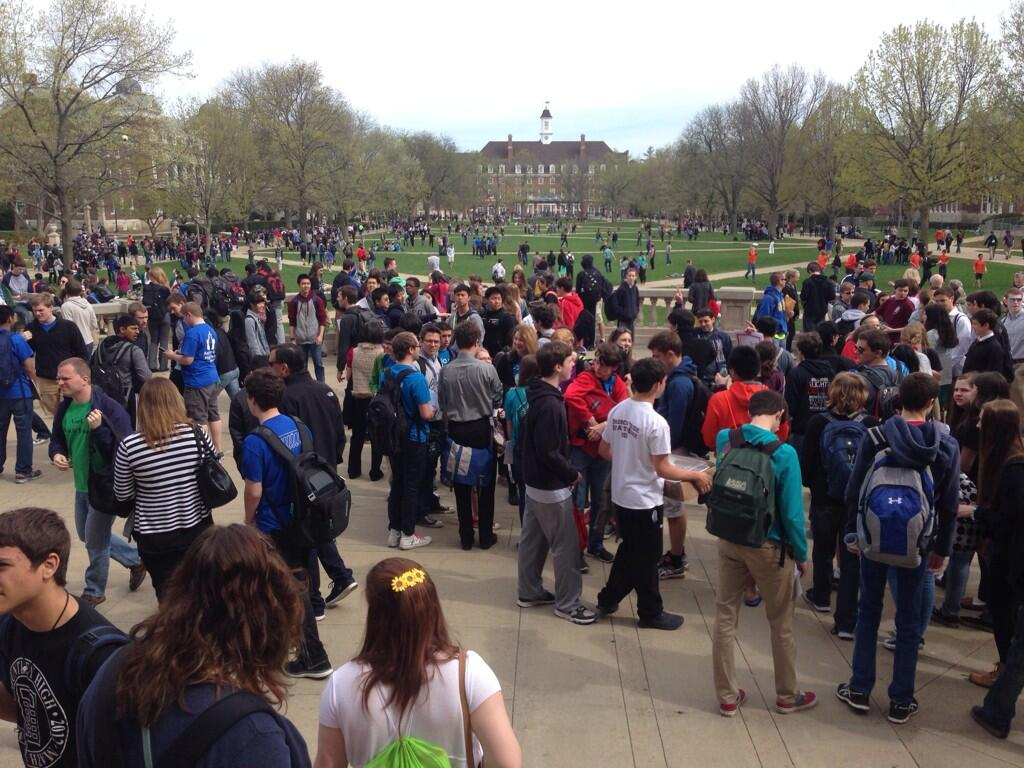 students on the quad during ICTM