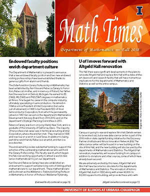 Math Times, Fall 2018 issue
